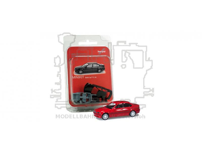 MiniKit: BMW 3er E 46 rubinrot/ Bausatz/ Maßstab:1:87 ...