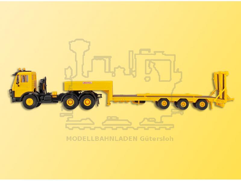 10466 Kibri Bausatz H0 MB mit Tiefladeauflieger