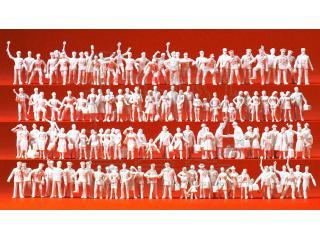 H0-1:87 24 Figuren für Spur Preiser 16345 Sommerlich Uniformierte unbemalt