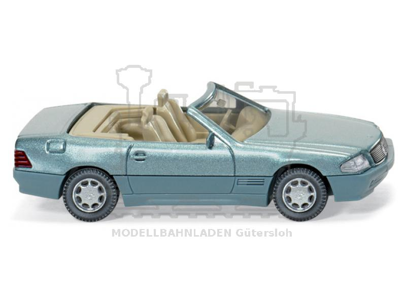 Wiking  014203  MB 500 SL Cabrio offen beryll metallic 1:87 H0 NEU//OVP